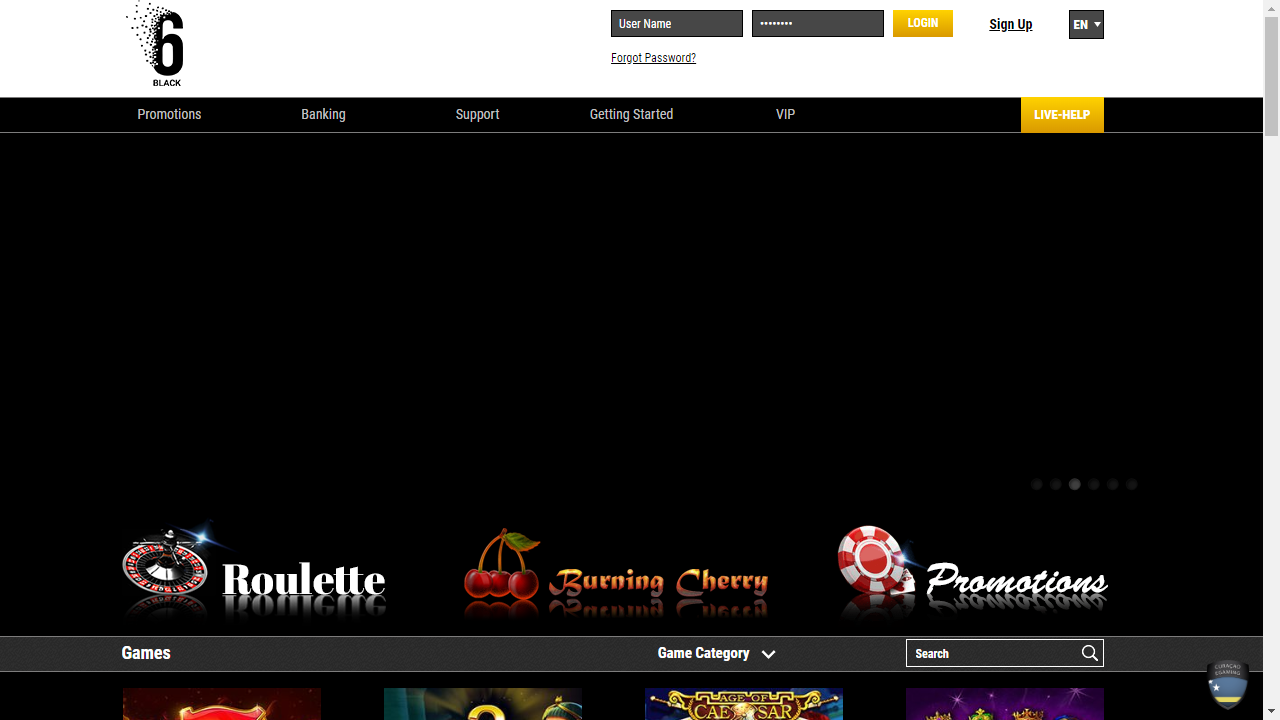 6Black Homepage