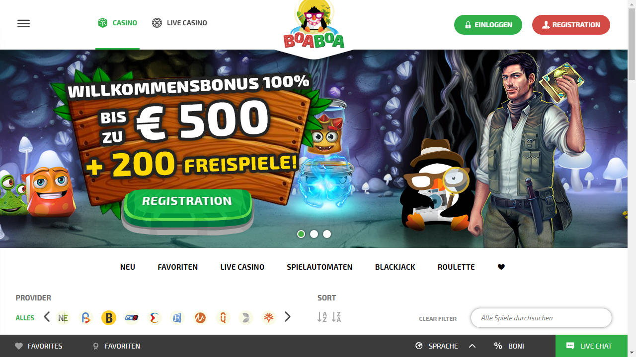 BoaBoa Homepage