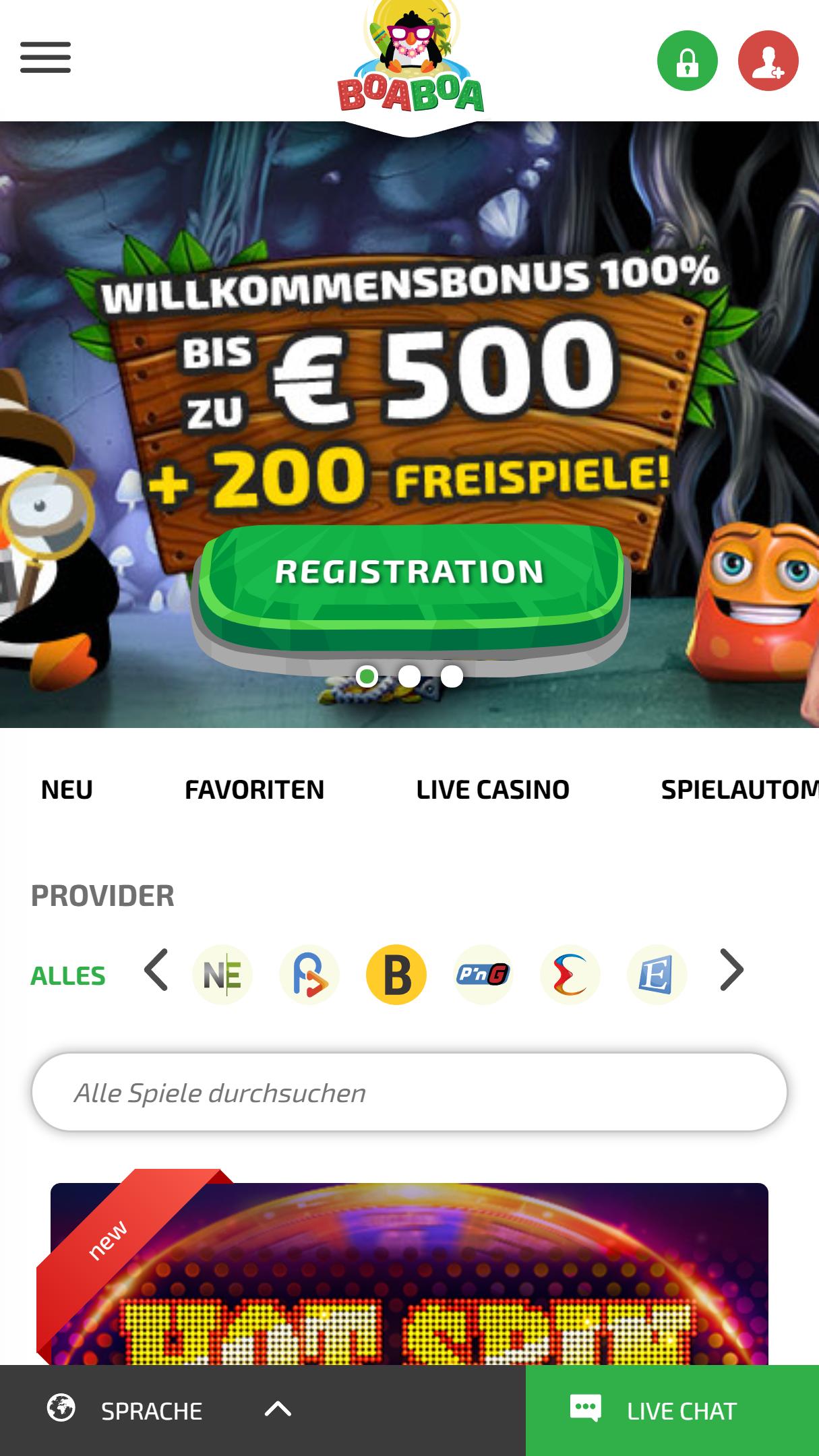 BoaBoa App Homepage