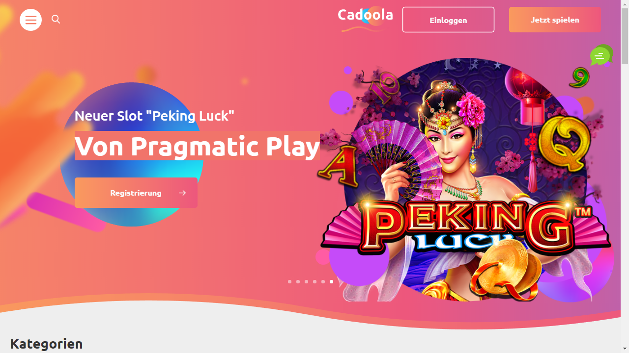 Cadoola Homepage