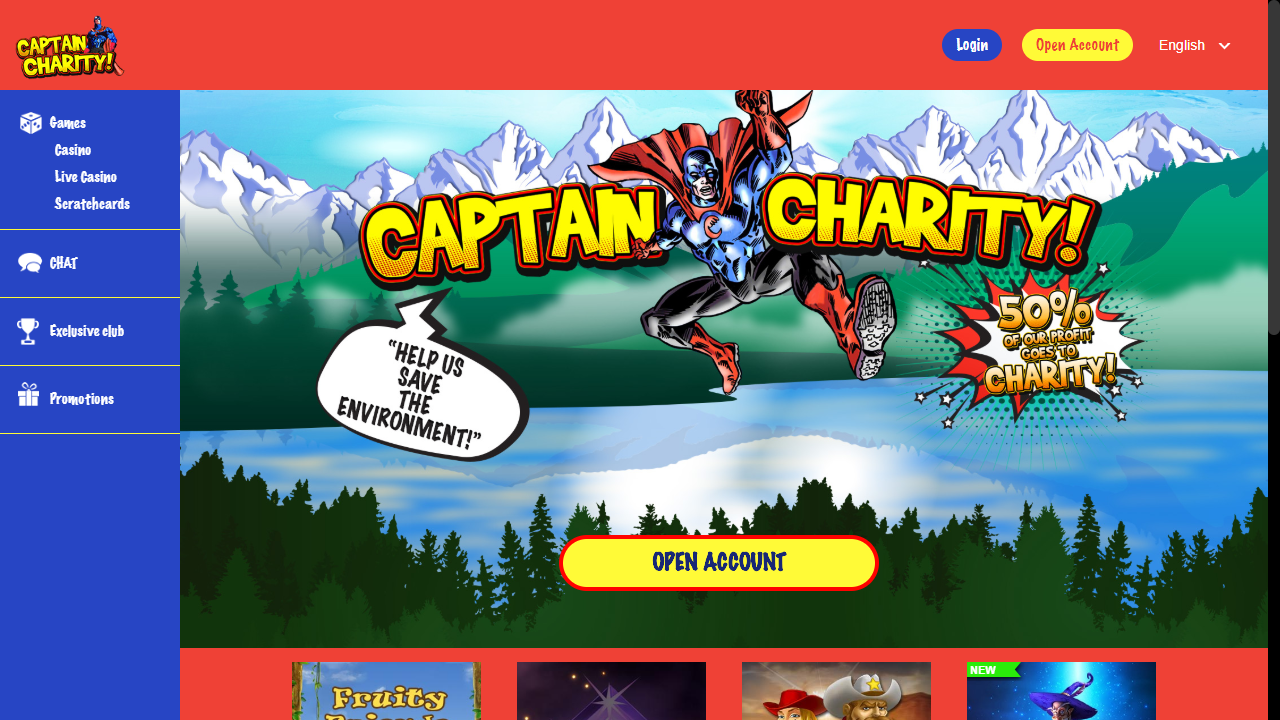 Captain Charity Homepage