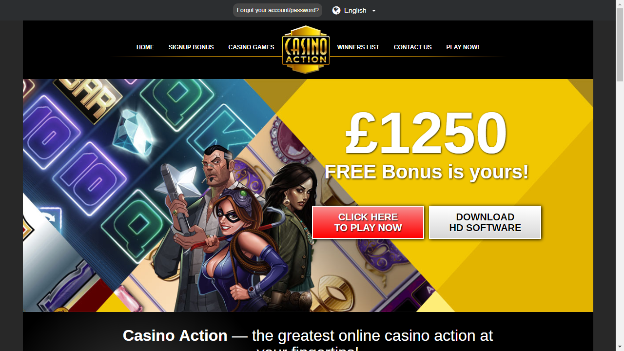 Casino Action - Free Download Casinos - Play Online Casino Games
