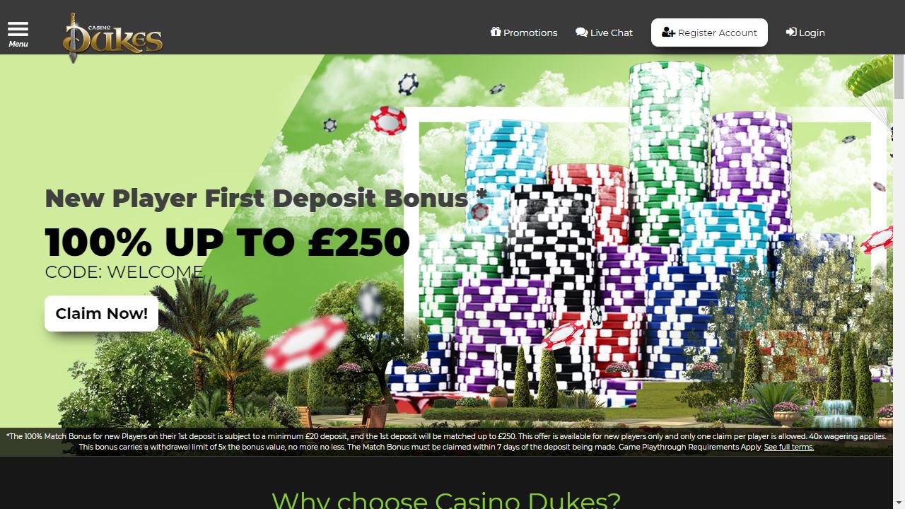 Casino Dukes Homepage
