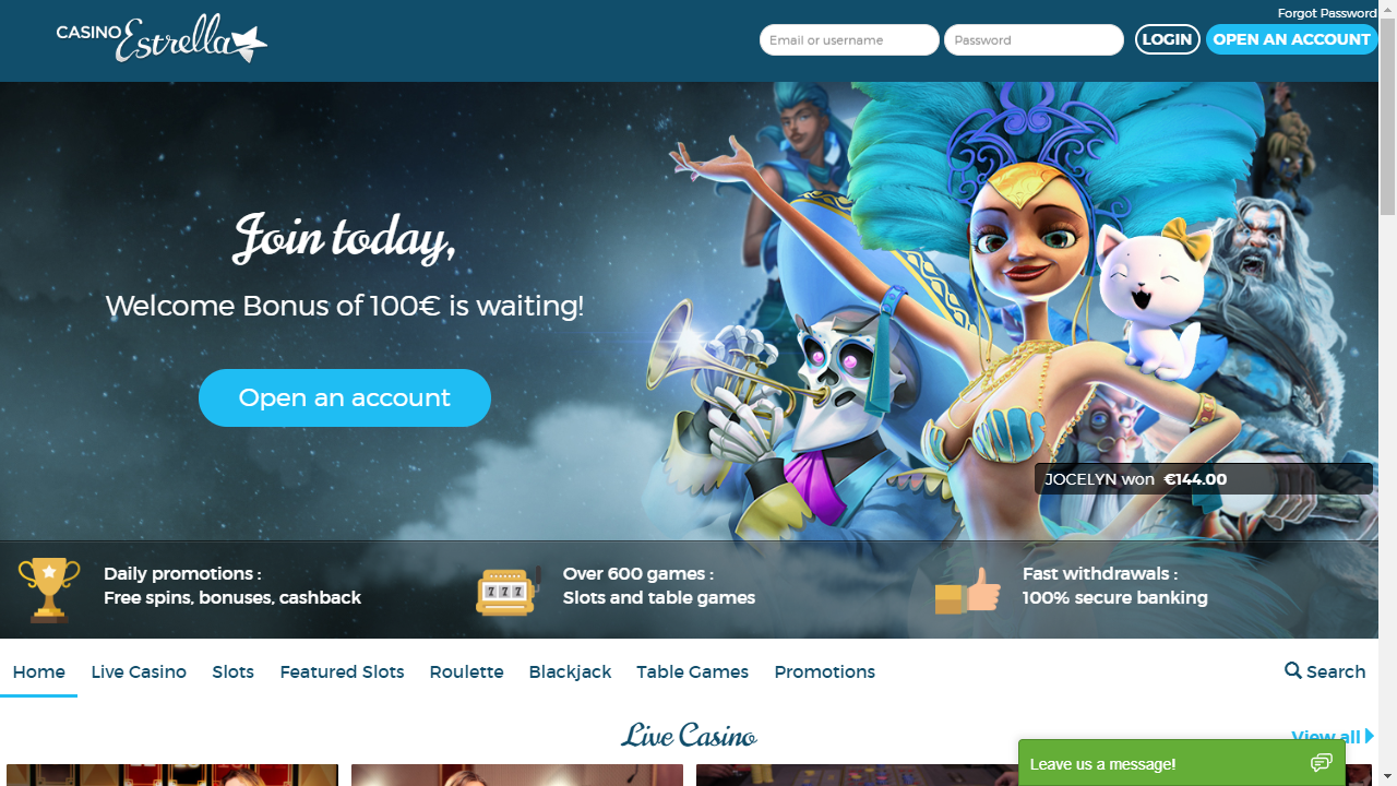 CasinoEstrella Homepage