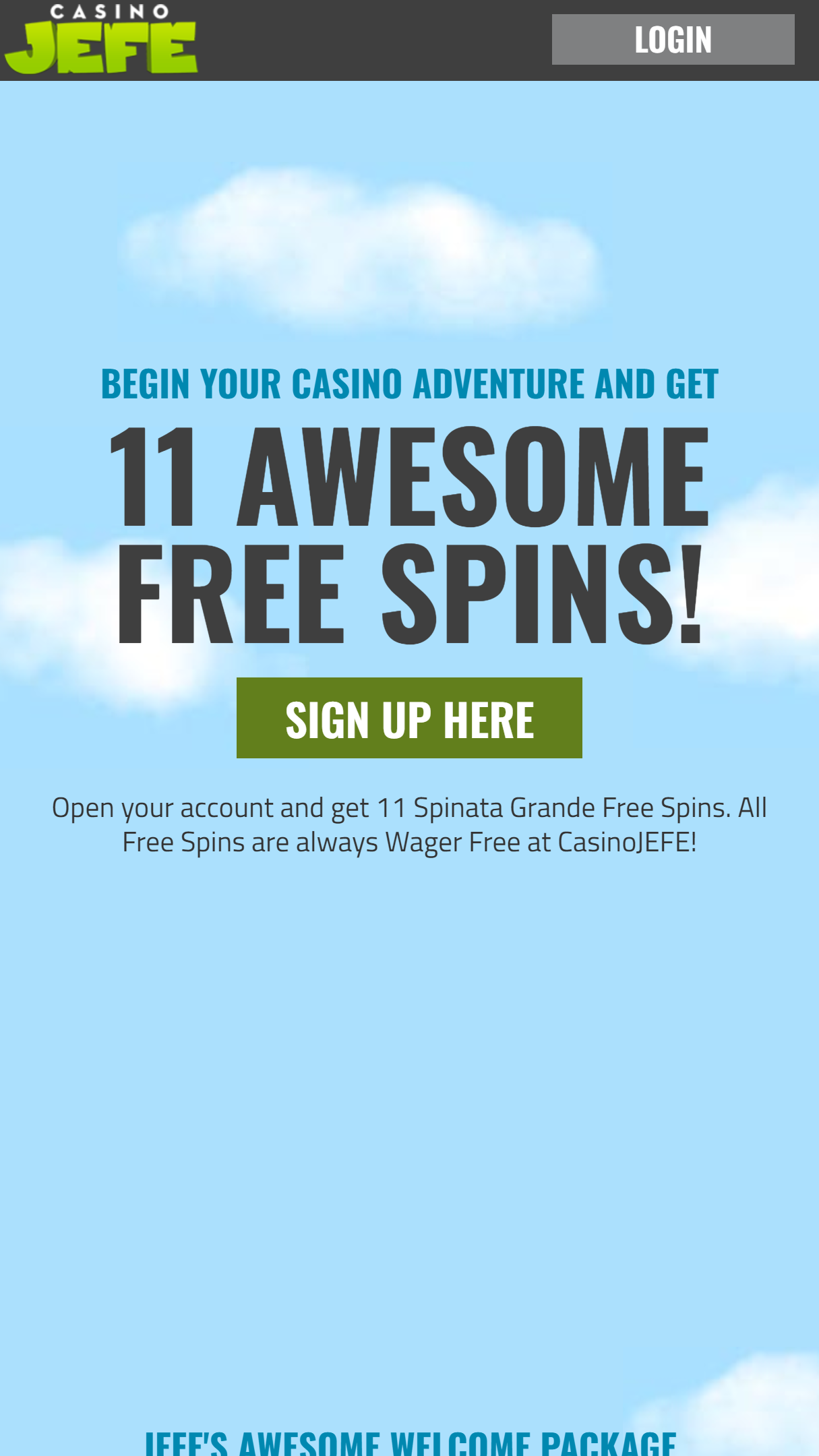 Casino Jefe App Homepage