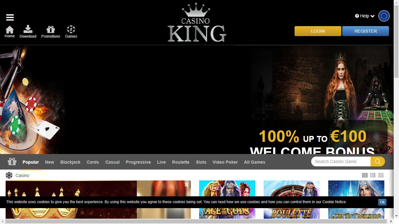 Casino King Homepage