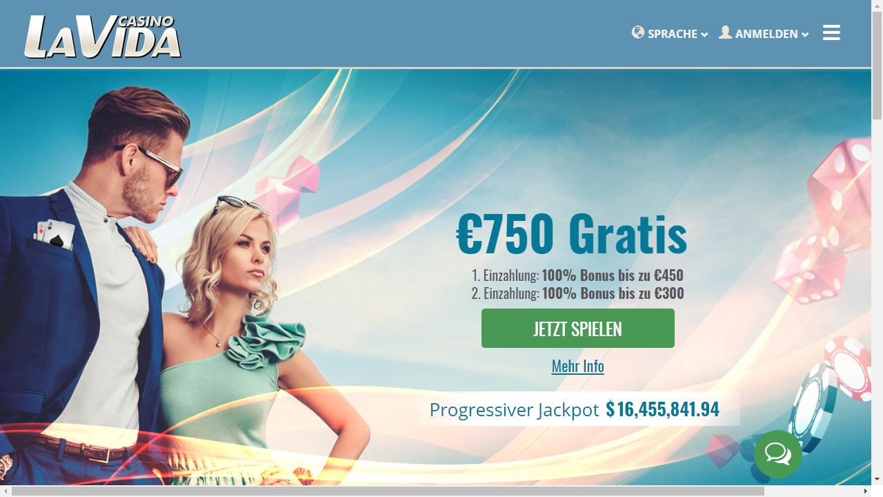 Casino LaVida Homepage