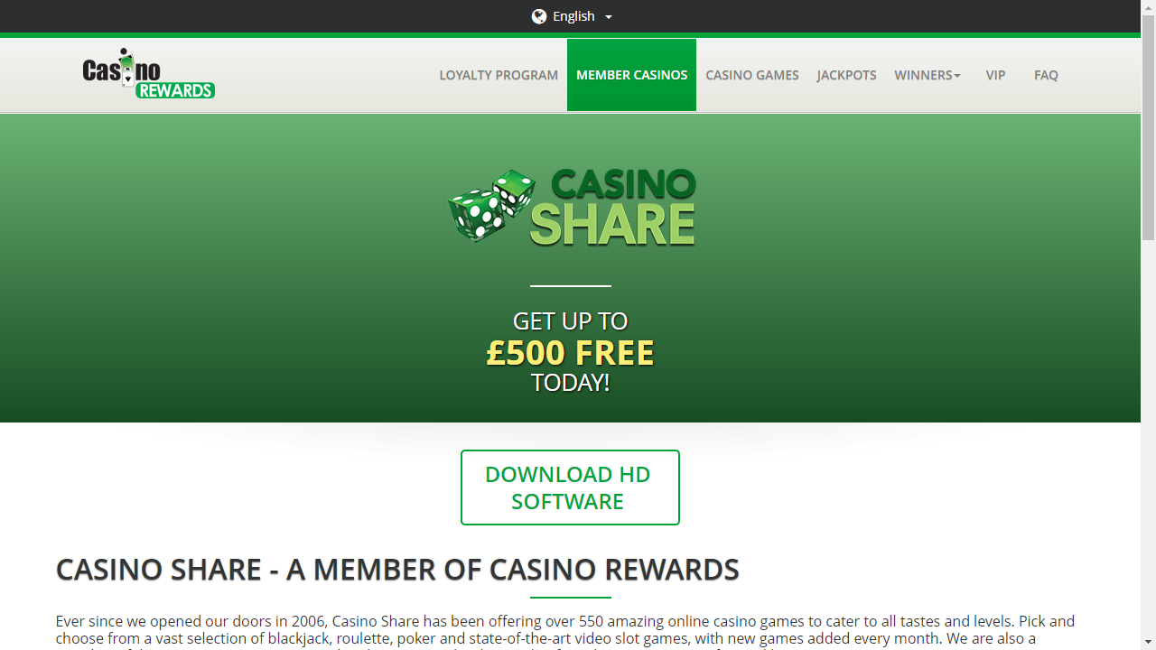 Casino Share Homepage