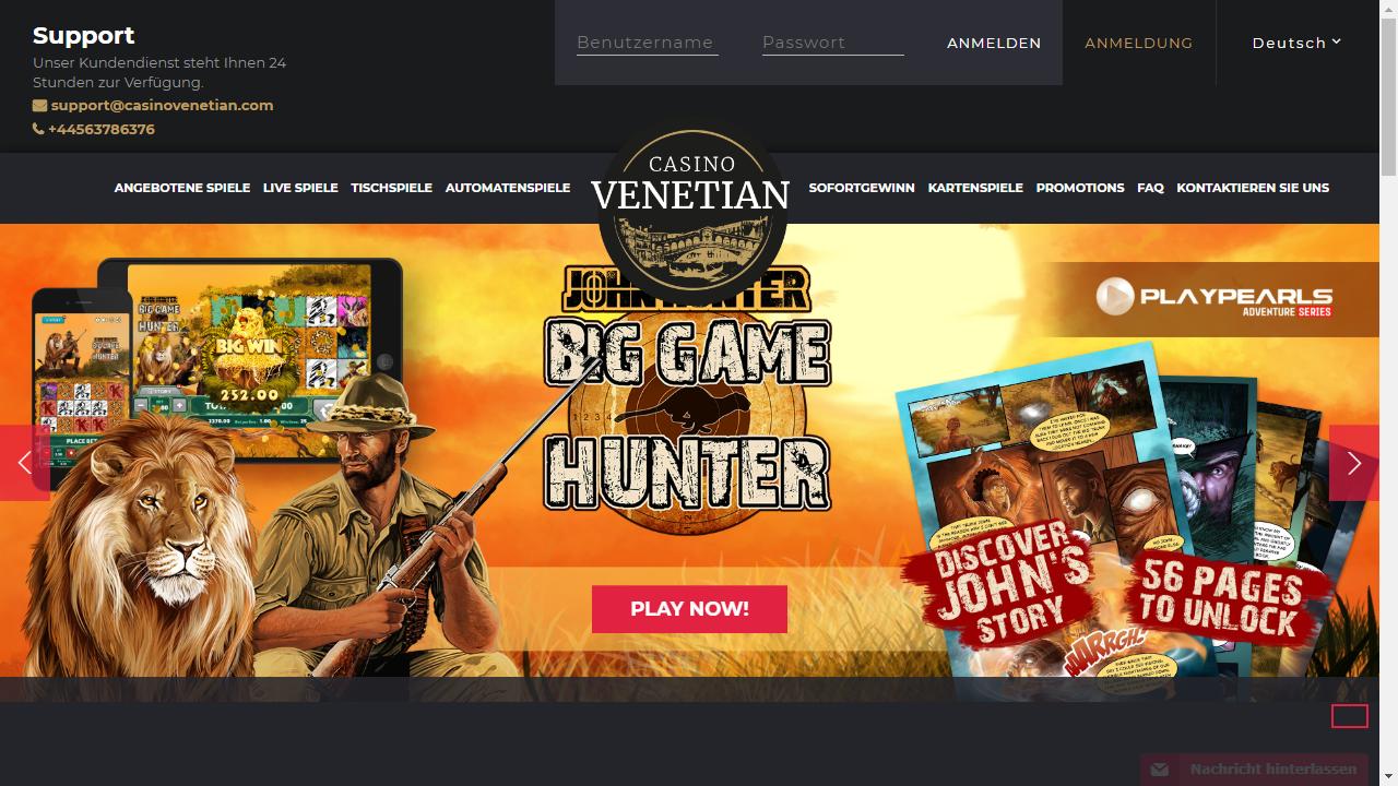 Casino Venetian Homepage