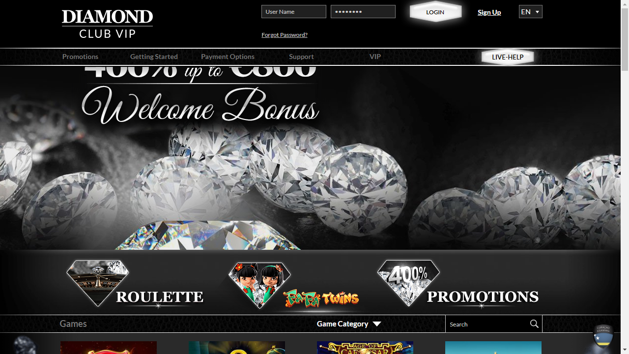 DiamondClubVip Homepage