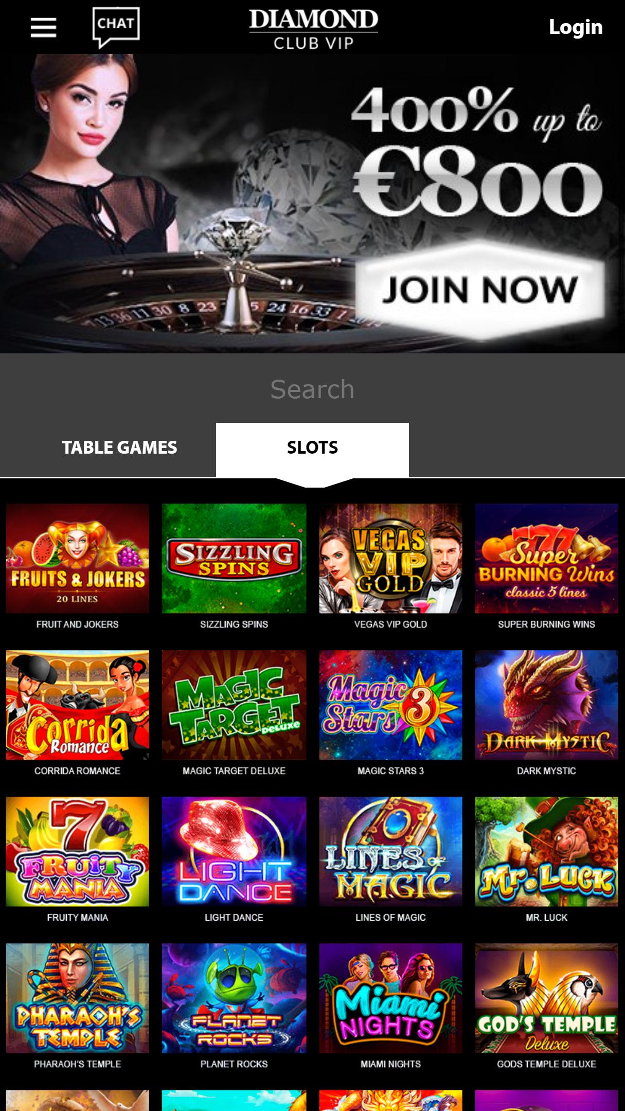 DiamondClubVip App Homepage