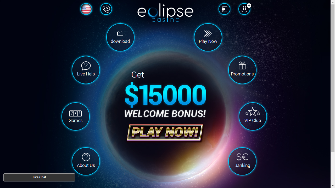 Eclipse Casino Homepage