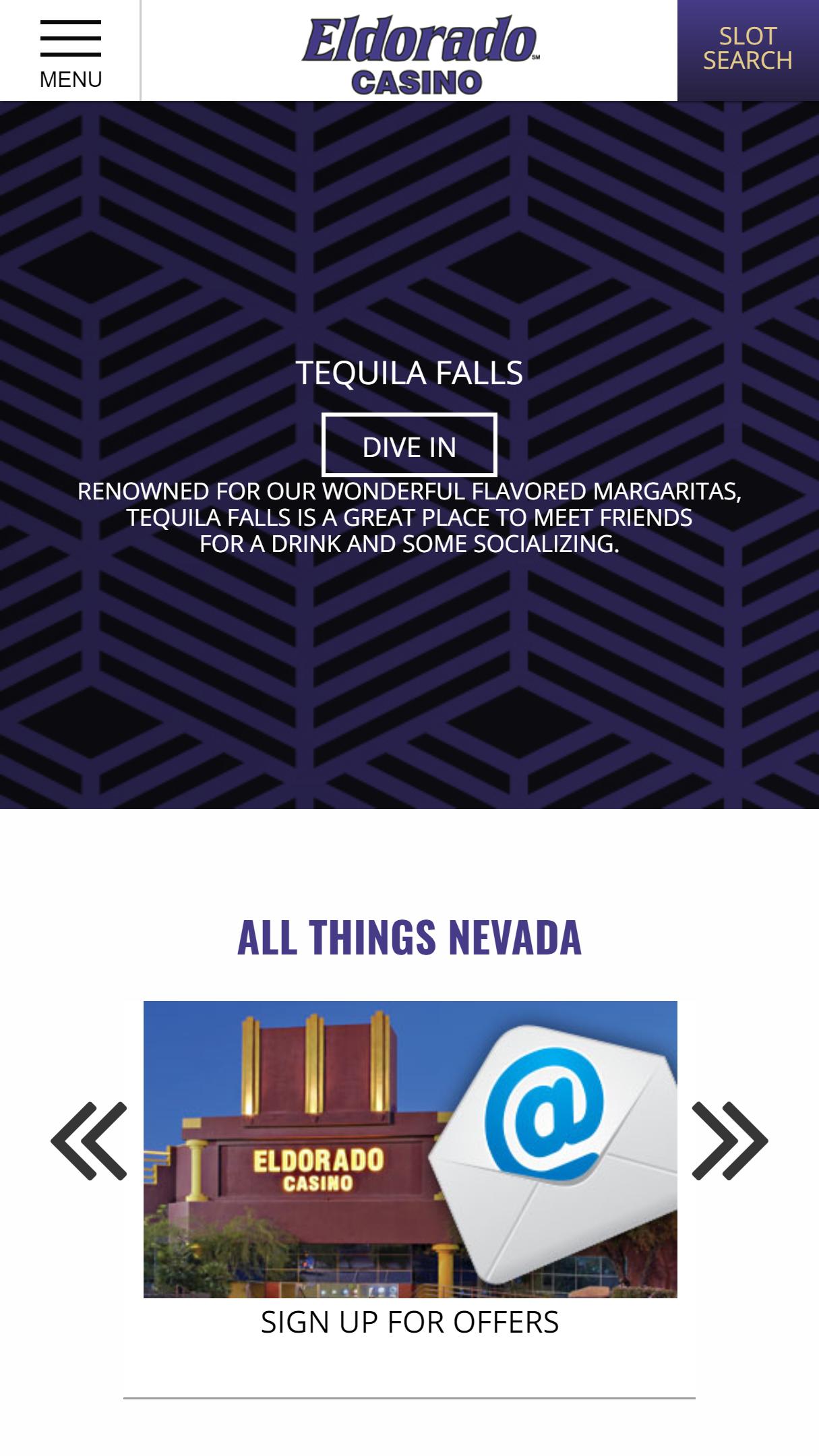 ElDorado Casino App Homepage