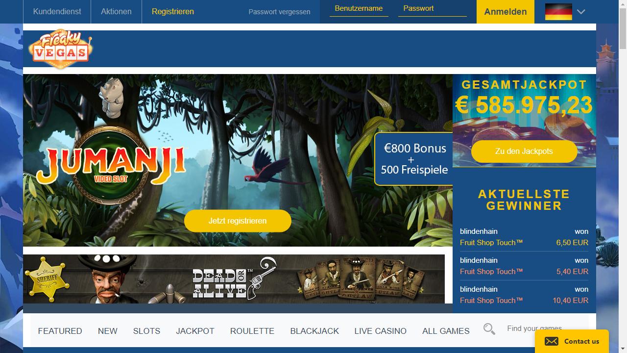 FreakyVegas Homepage