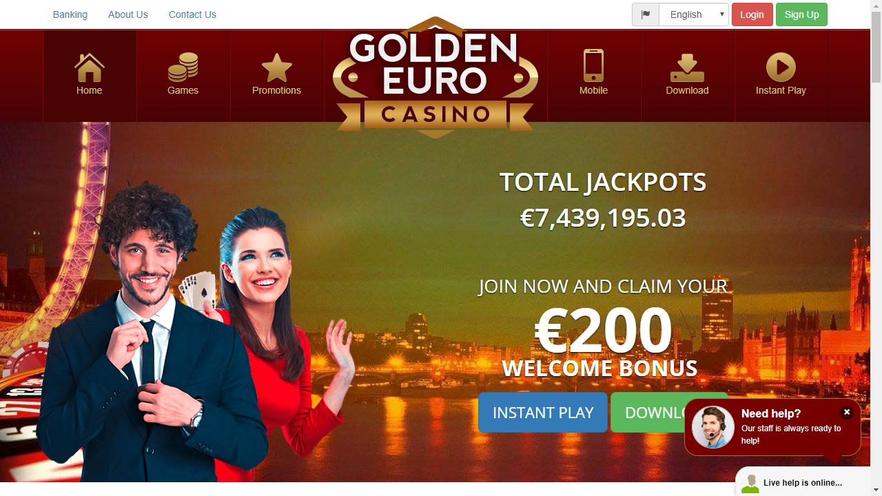 Golden Euro Casino Homepage