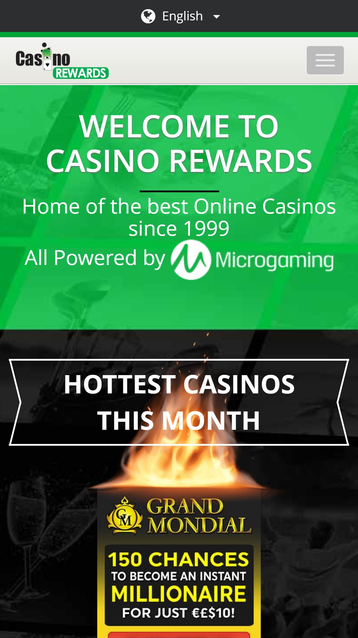Golden Reef Casino App Homepage