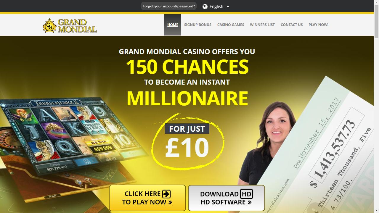 Grand Mondial Casino Homepage