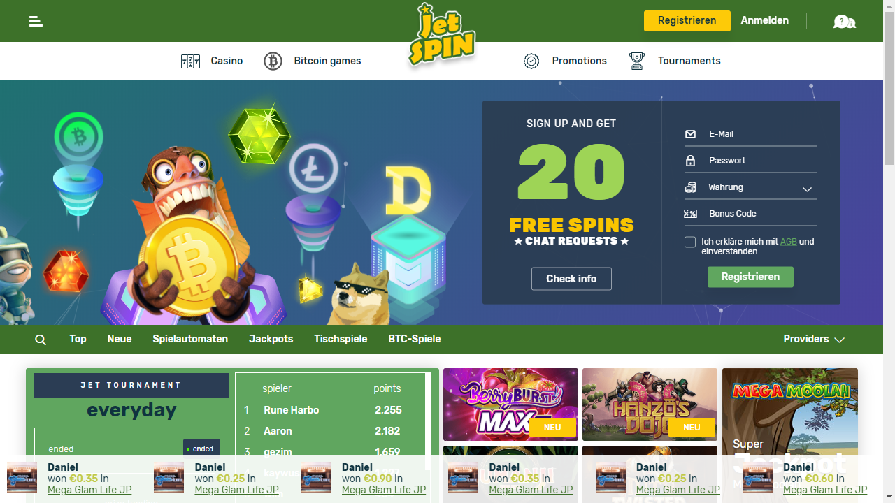 JetSpin Homepage