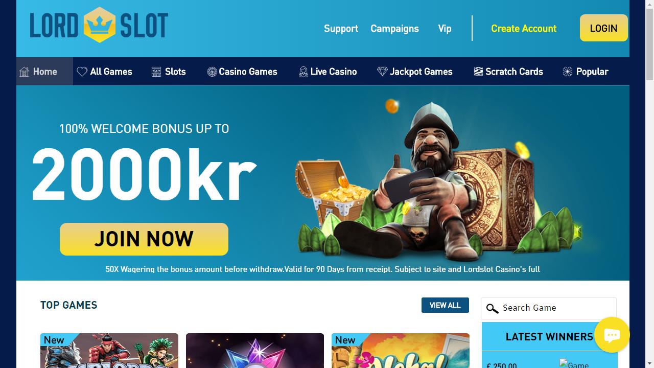 LordSlot Homepage