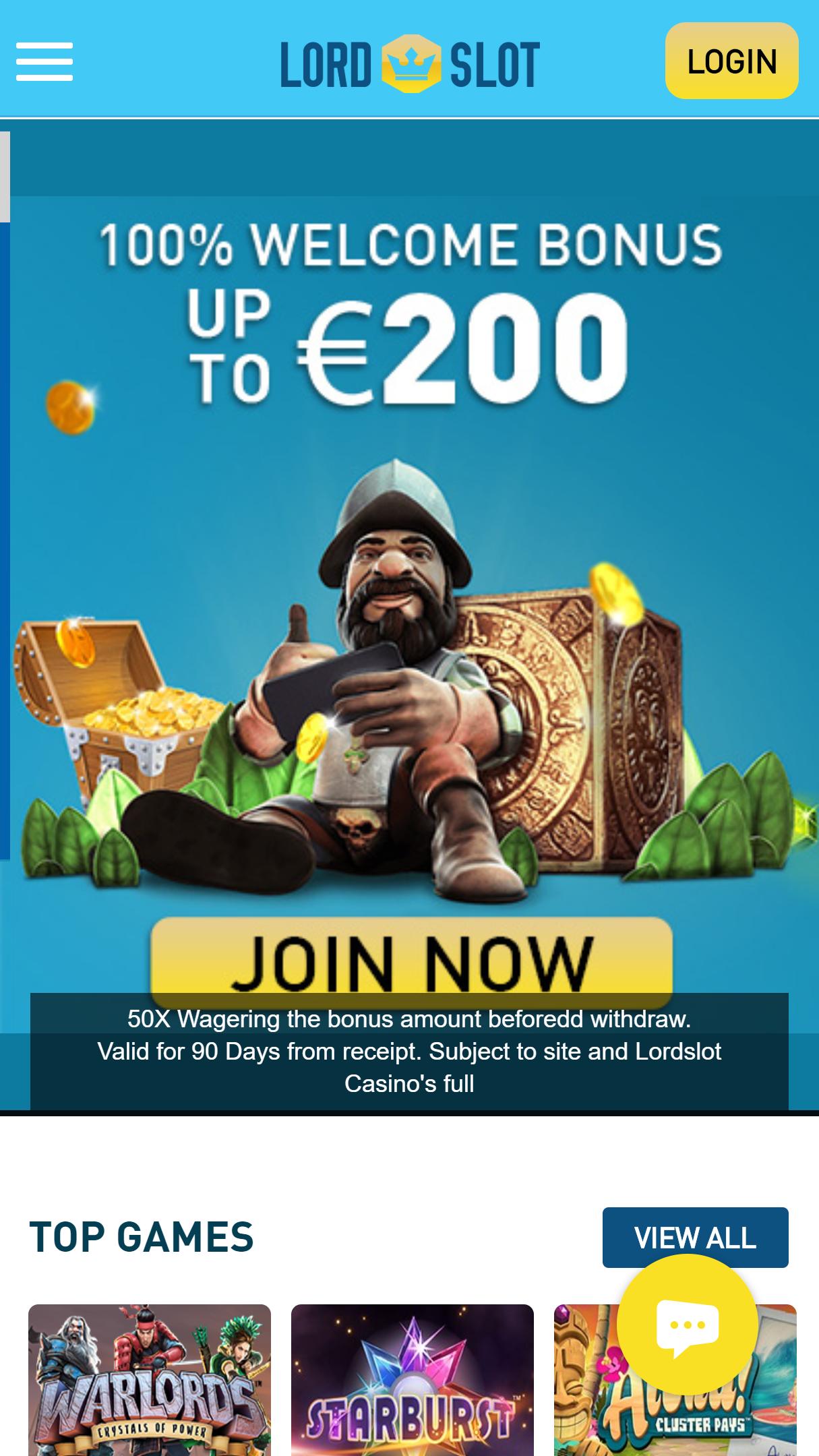LordSlot App Homepage