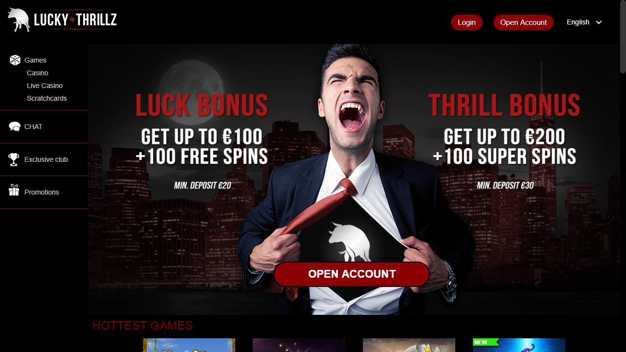 Lucky Thrillz Homepage