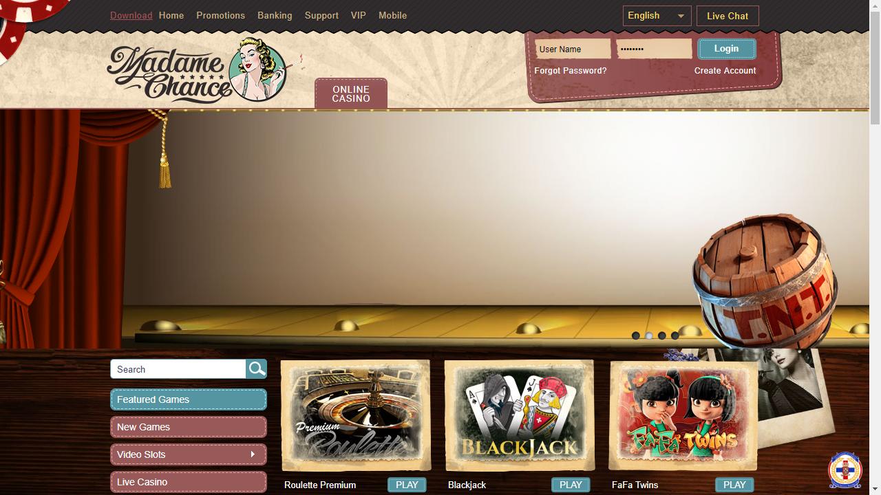 Madame Chance Homepage