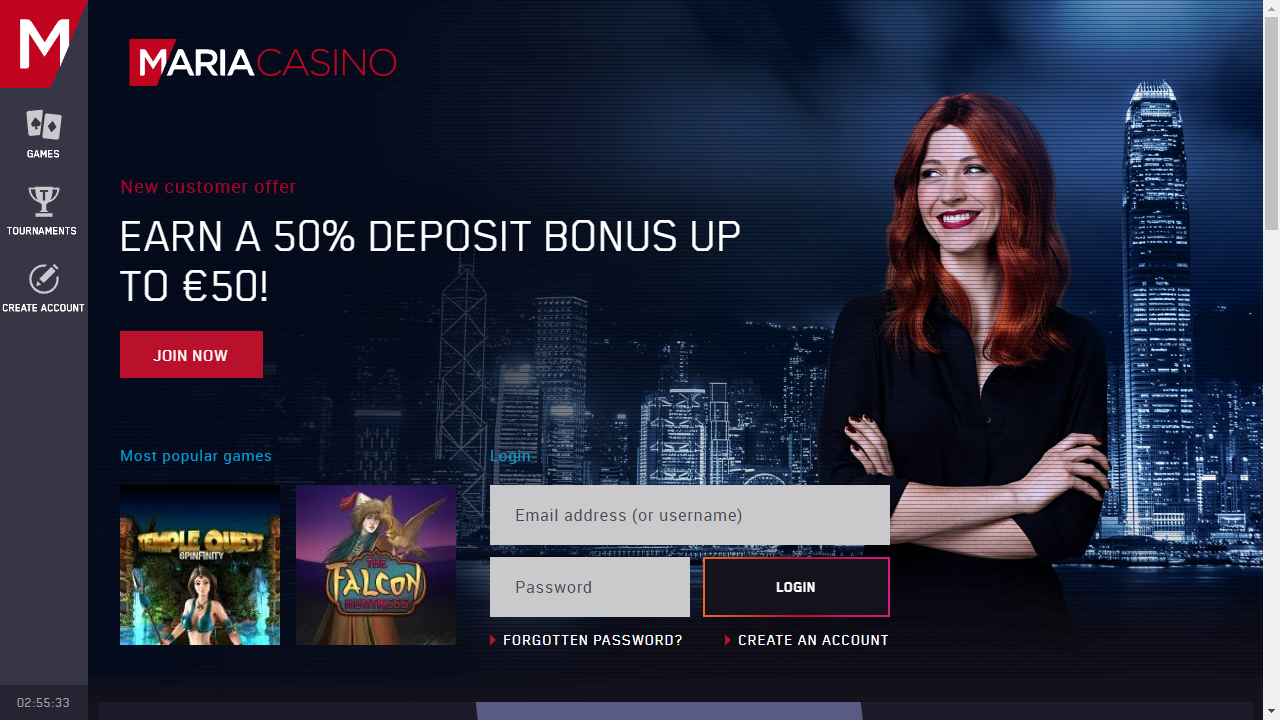 Maria Casino Homepage
