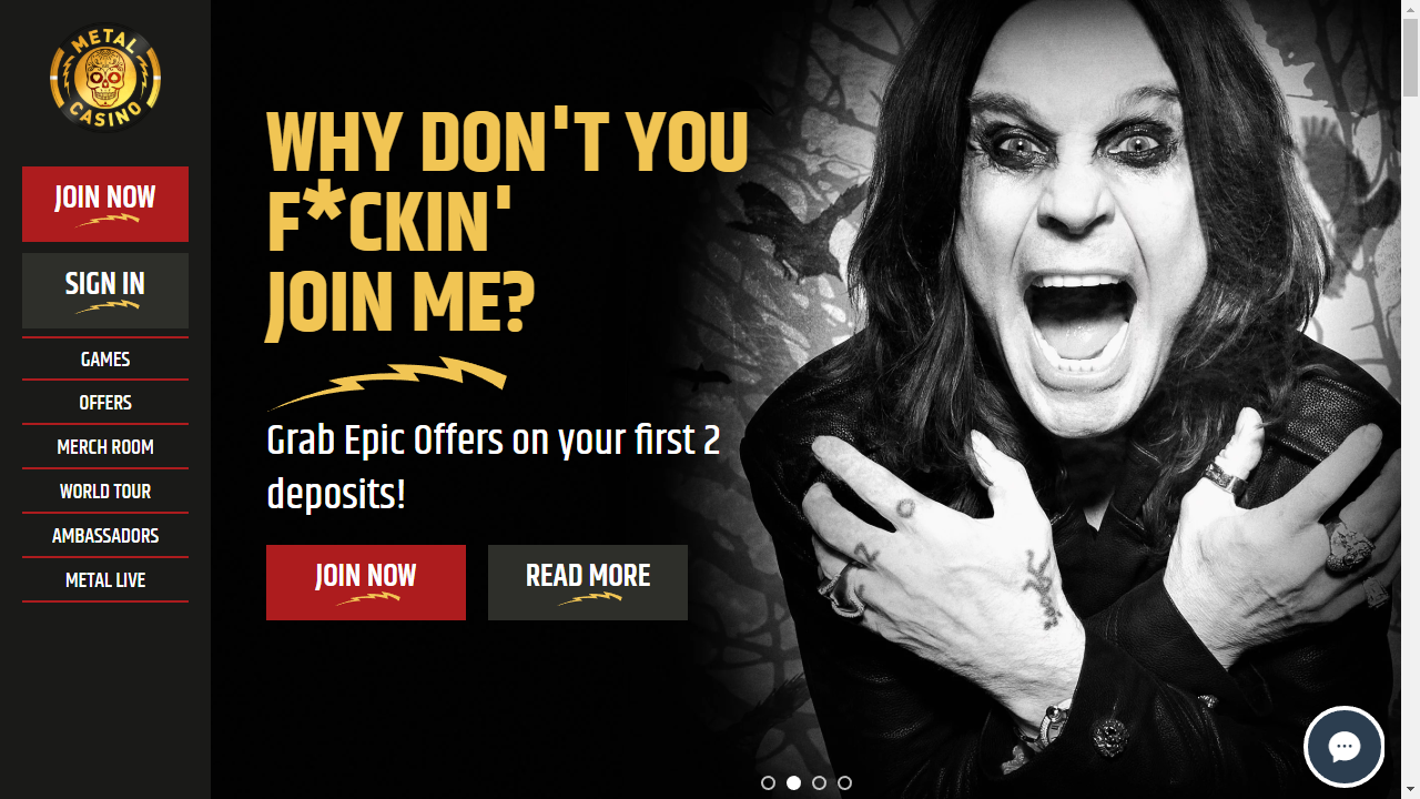 Metal Casino Homepage