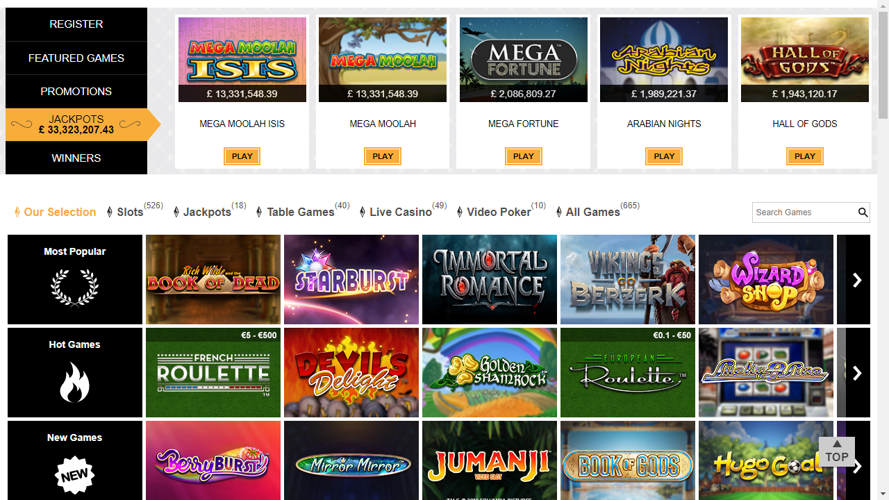 Monte-Carlo Casino Homepage