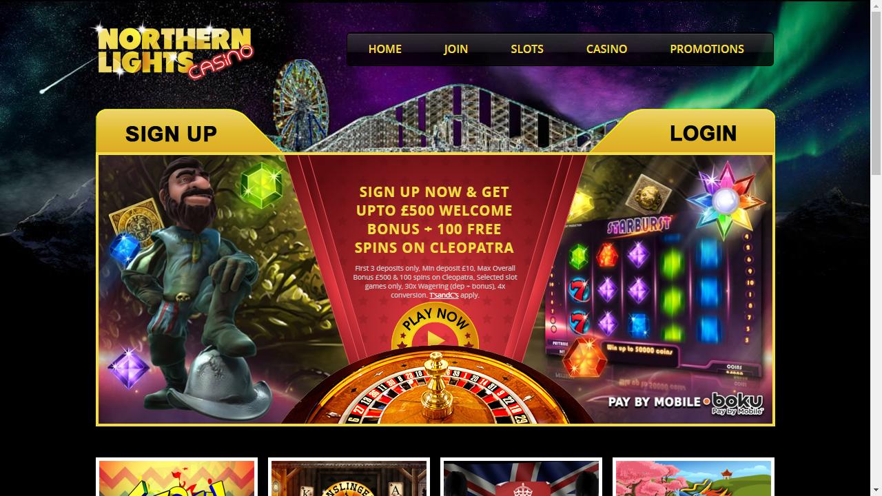 Northern Lights Casino Homepage