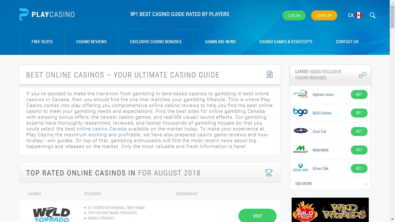 Play.casino Homepage