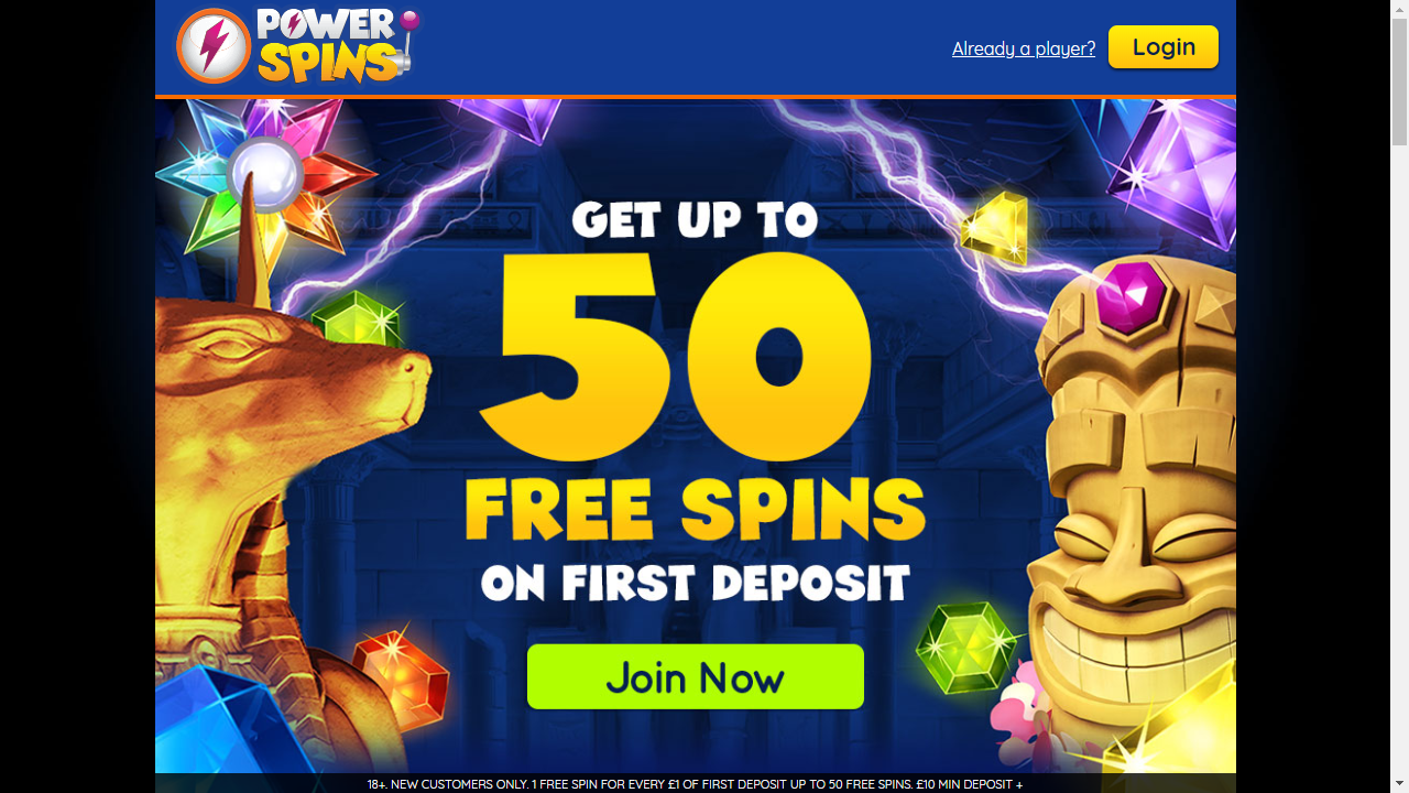 Power Spins Homepage