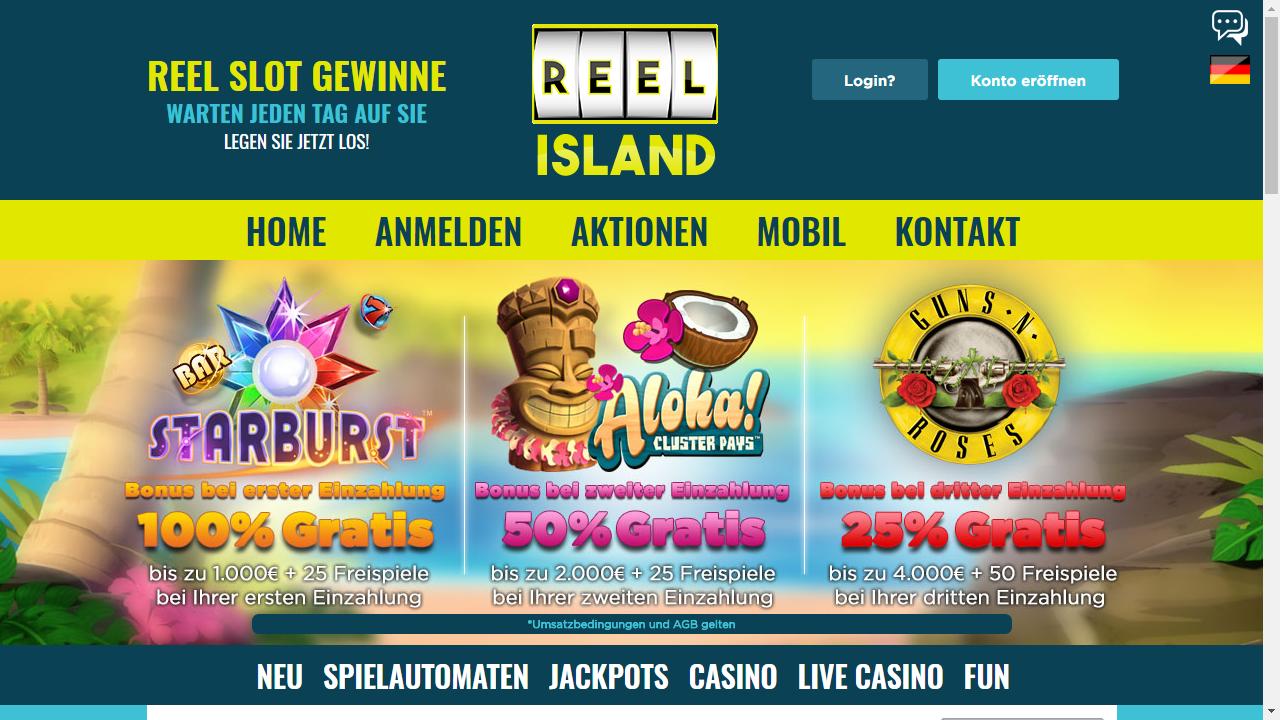 Reel Island Casino Homepage