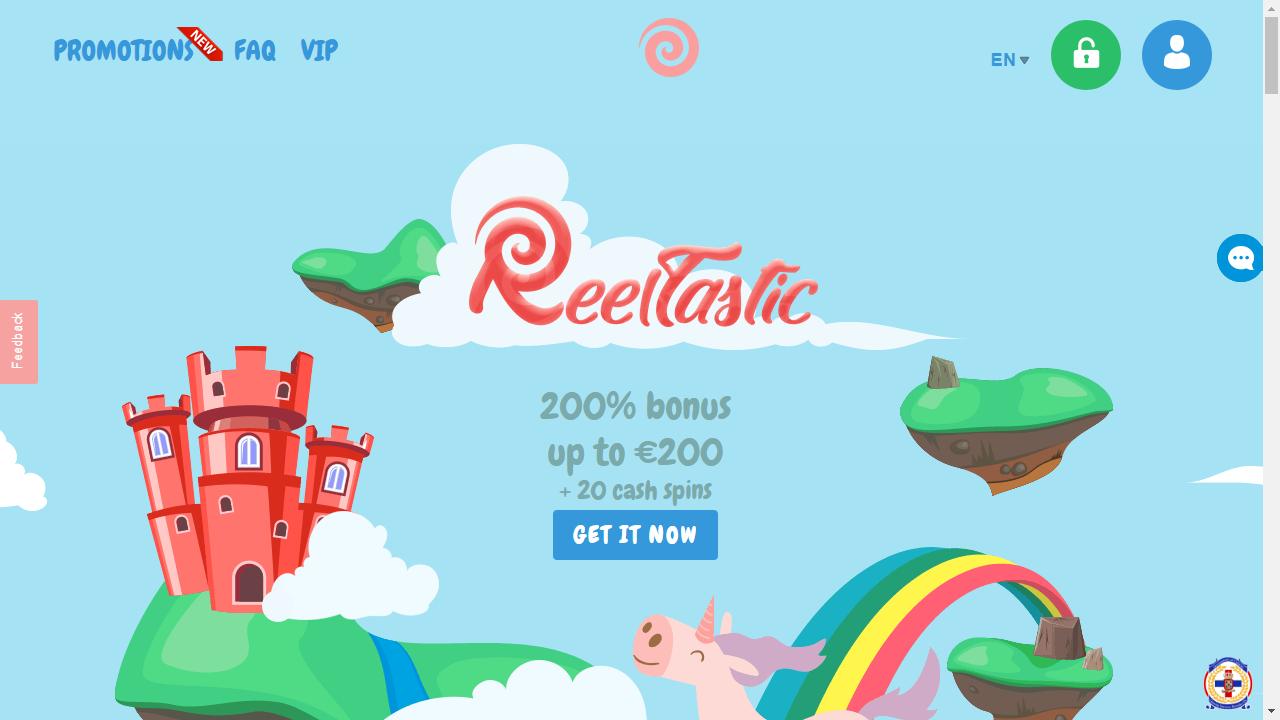 Reeltastic Homepage