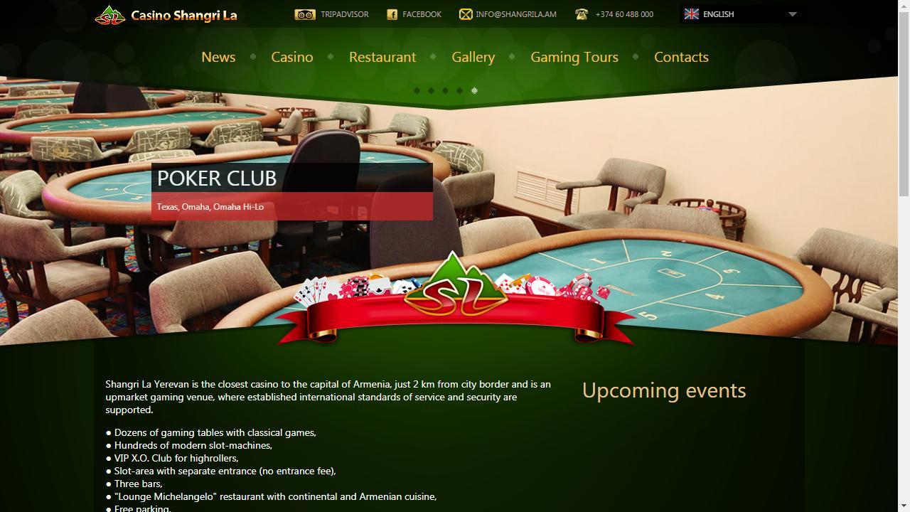 Shangri La Casino Homepage