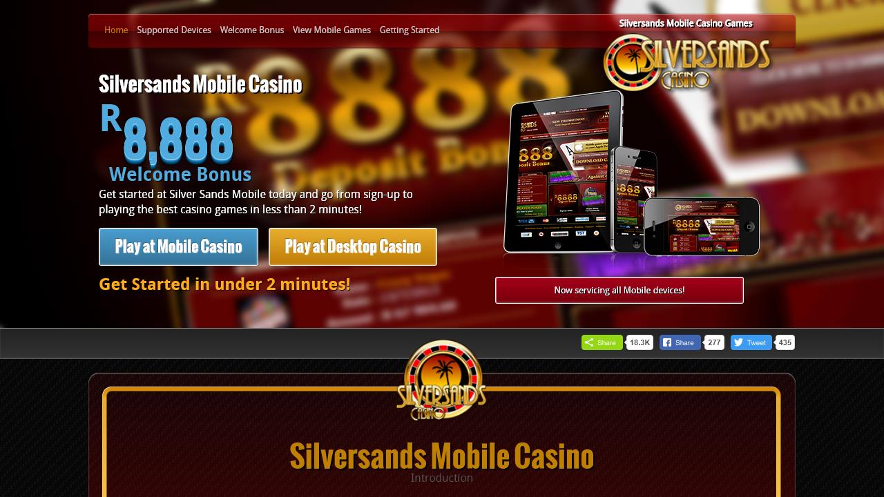 Silversands Casino Homepage