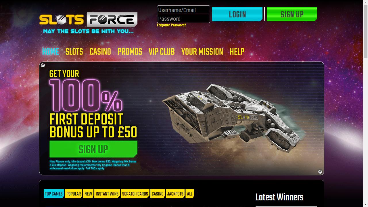 Slots Force Homepage