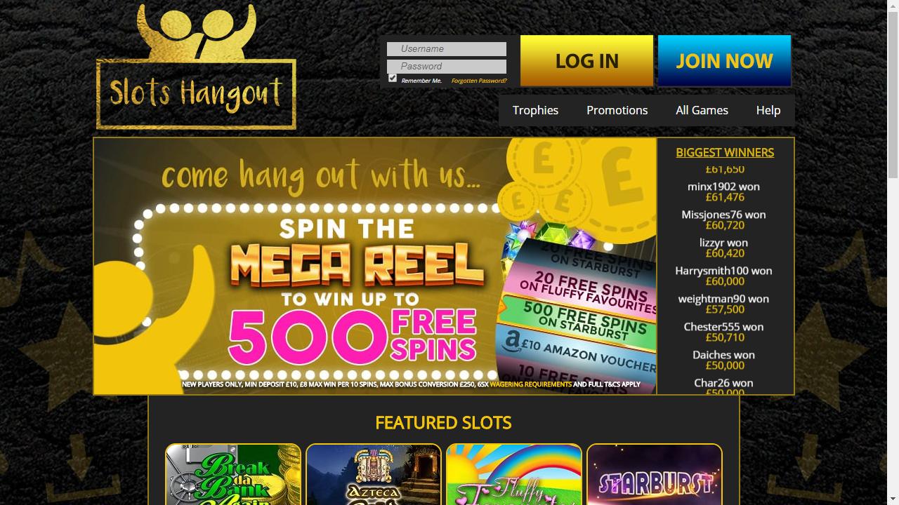 Slots Heaven Homepage