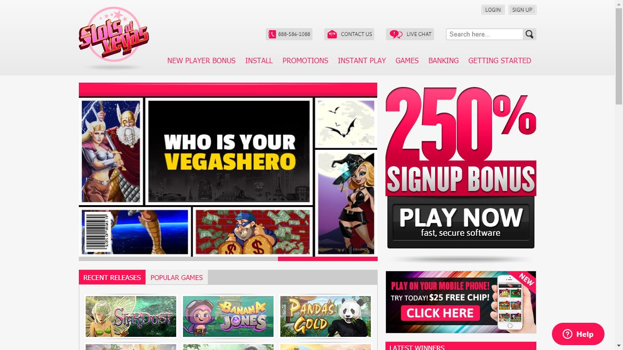 Slots Of Vegas Homepage