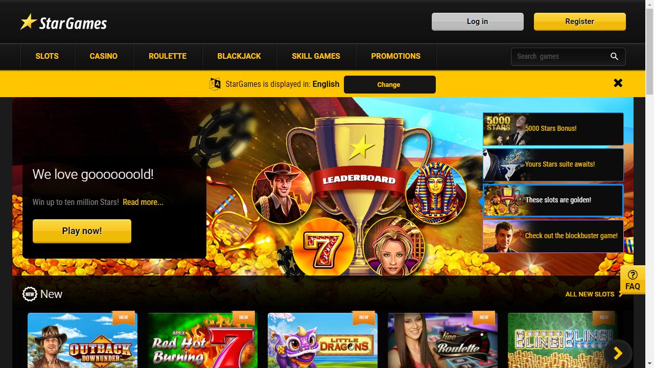 Stargames Homepage