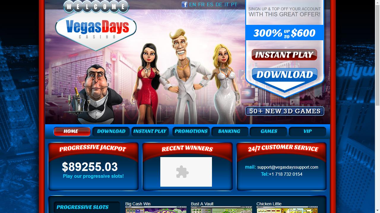 Vegas Days Homepage