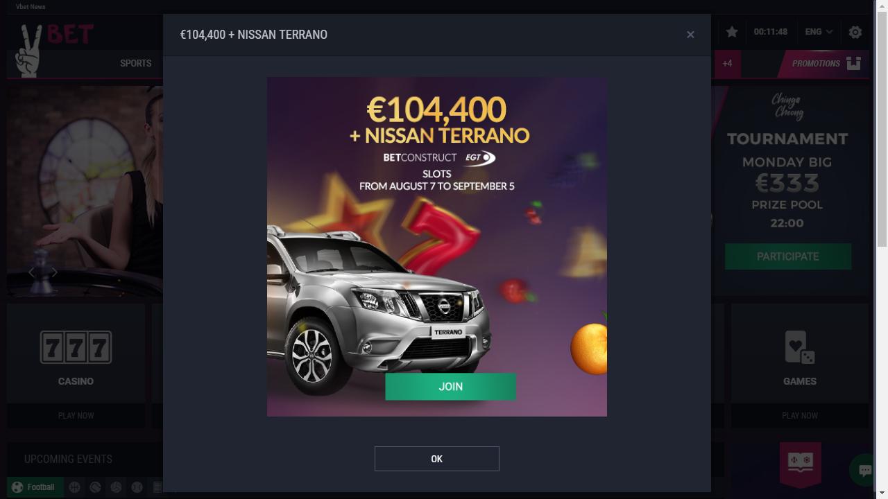 VoltCasino Homepage