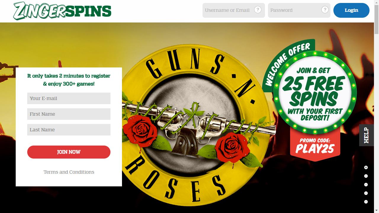 Zinger Spins Homepage