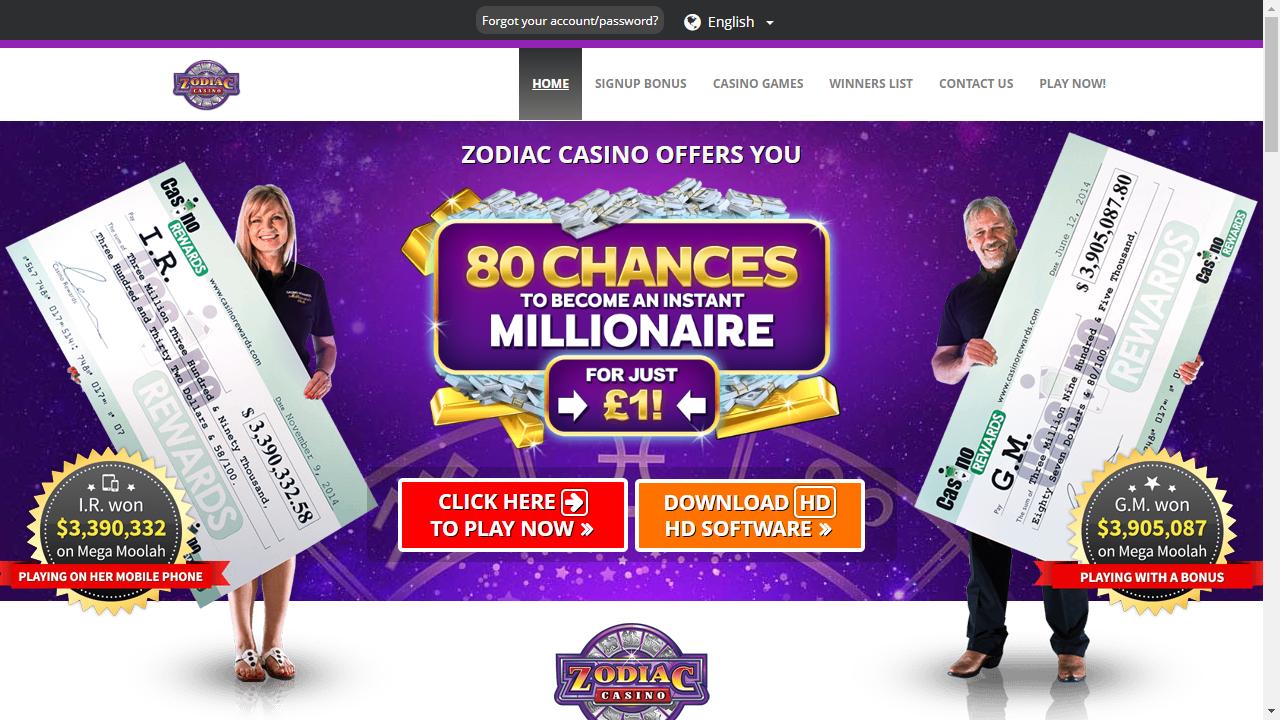 Zodiac Casino Install
