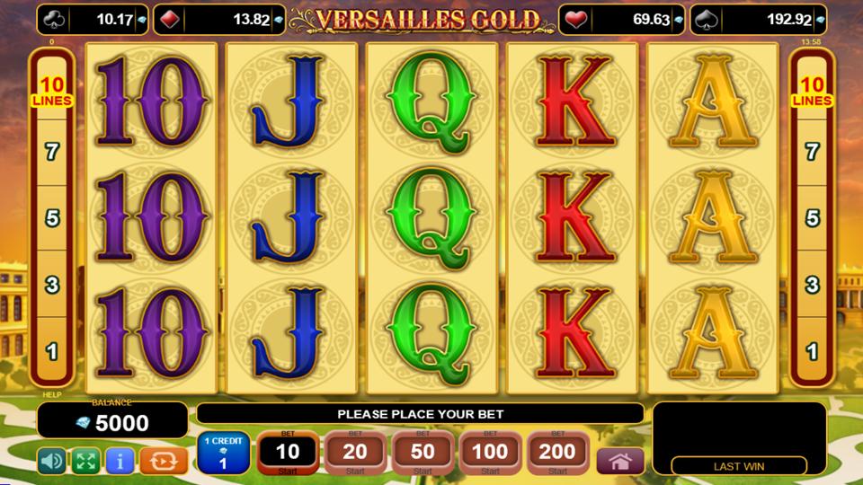 Casino Games Versailles Gold