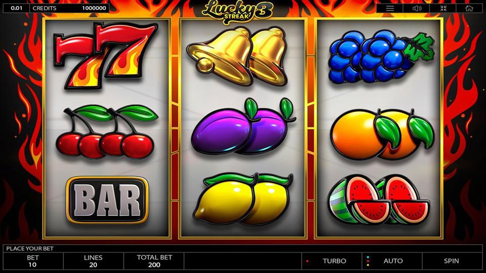 Endorphina Lucky Streak 3 Slot Review