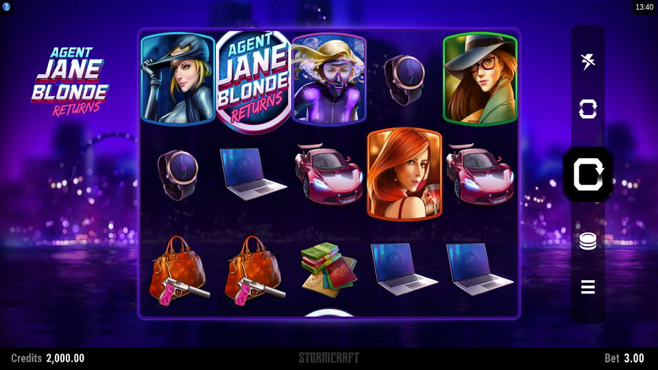 Microgaming Agent Jane Blonde Returns Slot Review