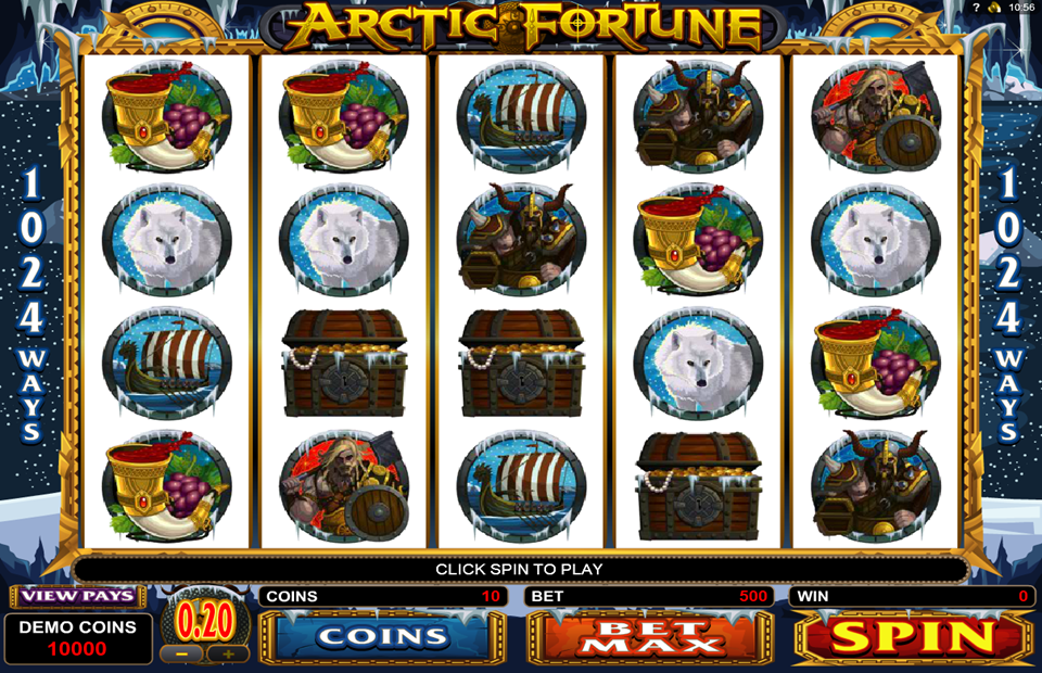 Arctic fortune microgaming slot game horse png