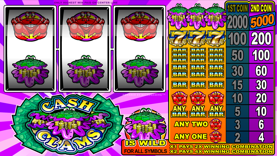 Microgaming Cash Clams Slot Review