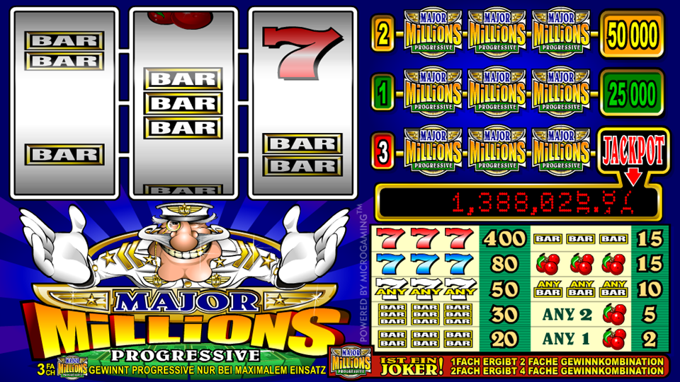 Major Millions Free Slot Machine